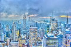 Midtown Manhattan at dusk
