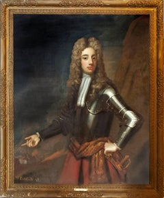 Portrait of Mr. Bagnal ( Pair with Mrs. Bagnal ) Sir Godfrey Kneller and Studio