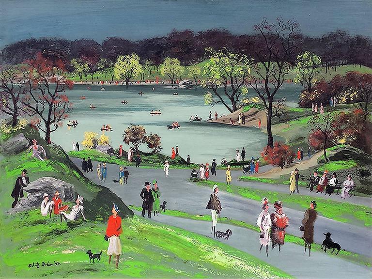 Adolf Arthur Dehn Landscape Painting - Central Park