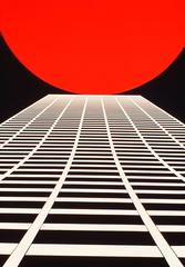 White Building, Red Sun