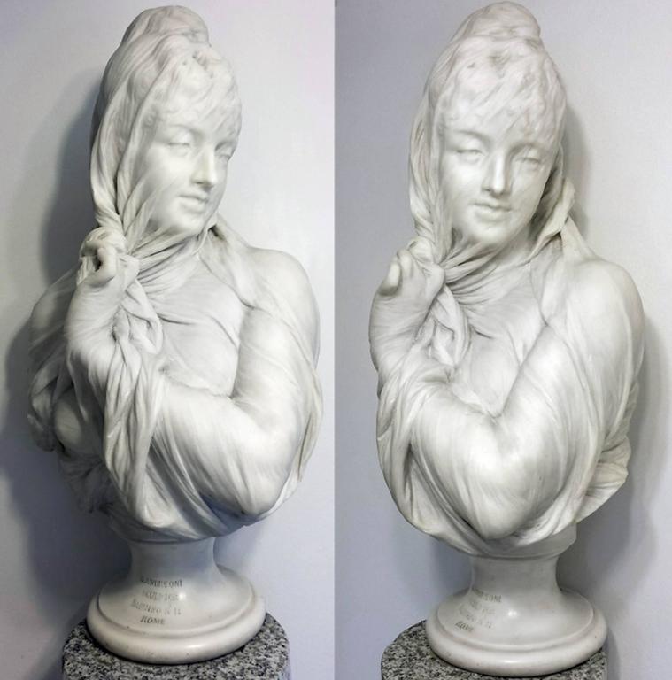 Orazio Andreoni Figurative Sculpture - Veiled Female