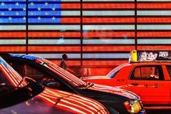 American Flag in Neon
