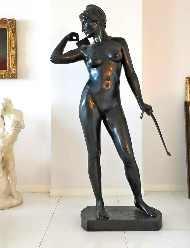 Hans Harry Liebmann Figurative Sculpture - Art Deco Diana