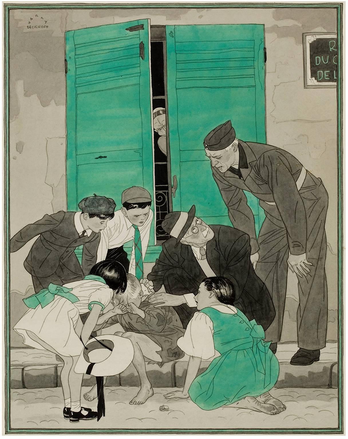 Consolation, Collier's magazine illustration