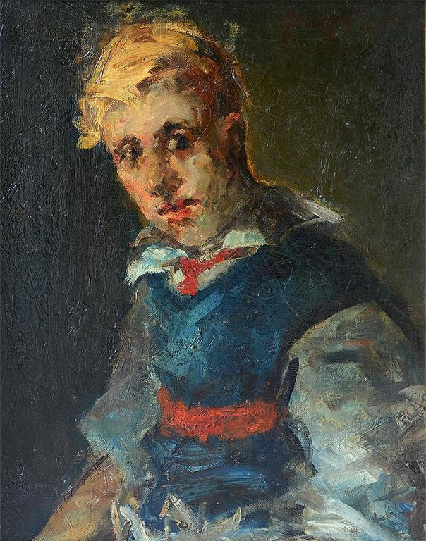 George Benjamin Luks Portrait Painting - Portrait of a Boy