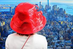 Red Hat over Manhattan