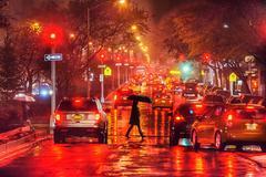 Park Avenue in the Rain