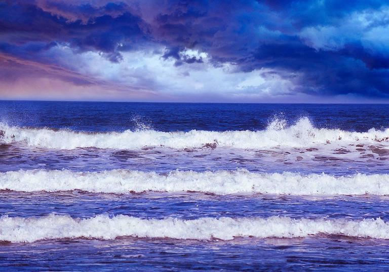 Mitchell Funk Landscape Photograph - Three Waves