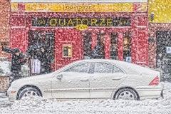 New York Street in Snow Storm