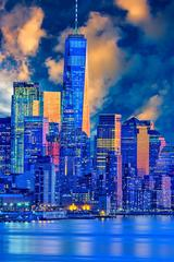 Word Trade Center in Blue, New York