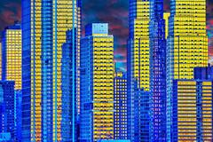 Manhattan: Gold and Blue Reflections Photography
