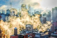 New York is Smoking Photograph