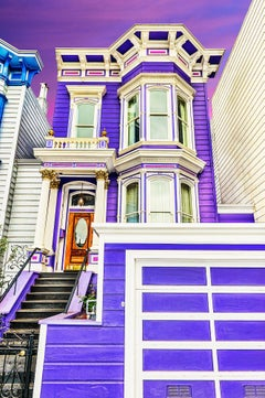 Purple Victorian Houses San Francisco - The Painted Ladies