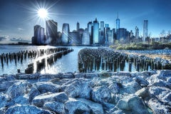 New York Skyline in Blue