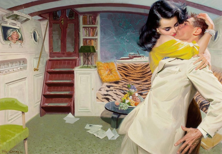 Tom Lovell Portrait Painting - Below Deck