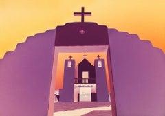 Taos Mission , Negative Color - San Francisco de Asis