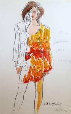 Halston , Vogue Magazine Illustration, Italy