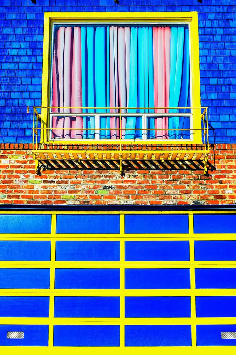 Mitchell funk blue and yellow wall photograph for sale for Garage master sf