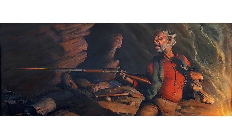Prospector firing Rifle  ( Happiness is a Warm Gun )