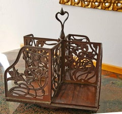 Rotating Art Nouveau Bookcase