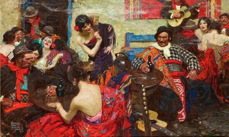 Dean Cornwell Figurative Painting - Spanish Tavern