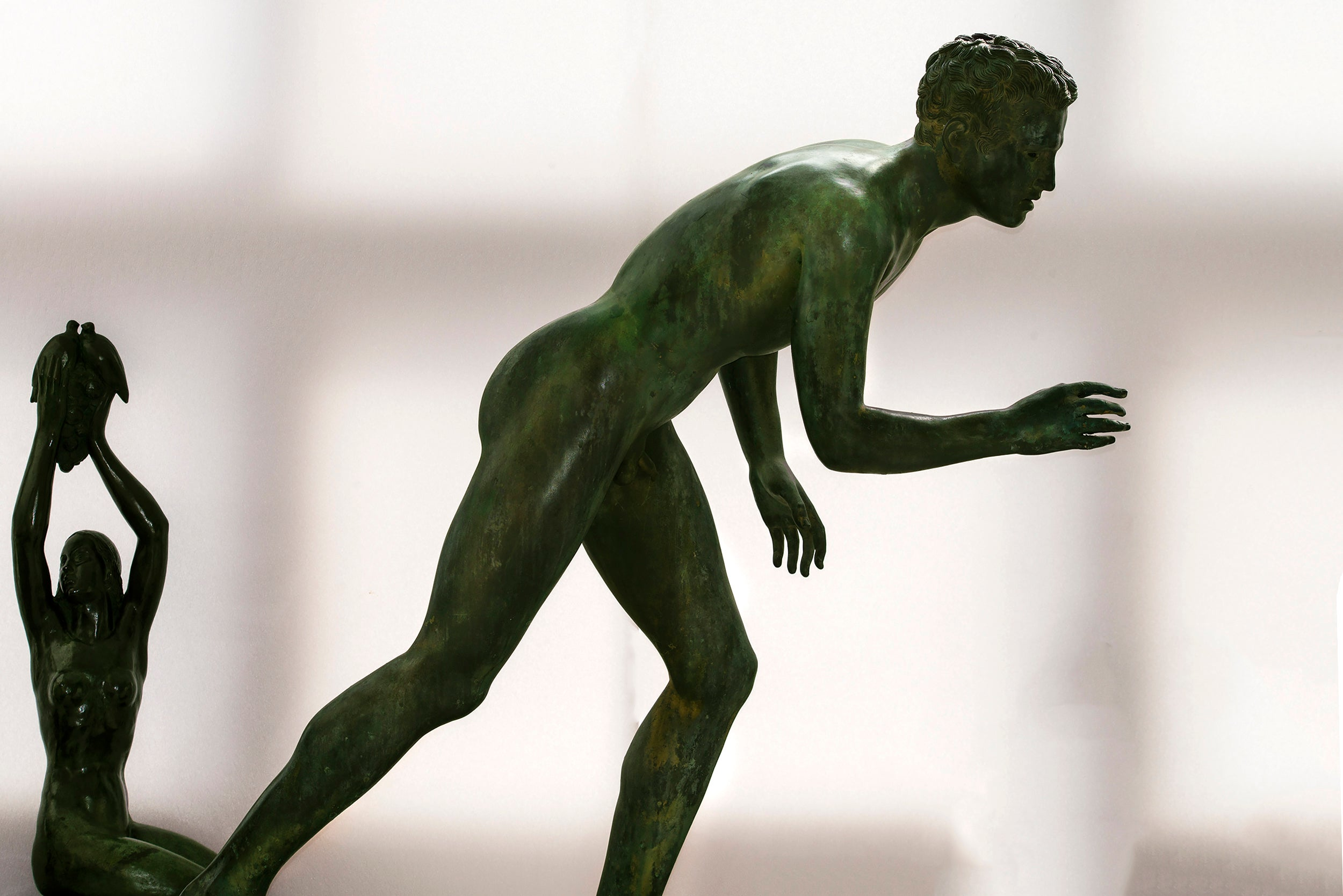 Nude Male Runner Classical Patinated  Bronze After the Antique