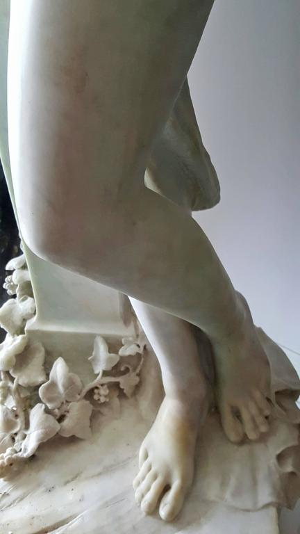 Nude woman, Bacchante and satyr herm - Sculpture by Unknown