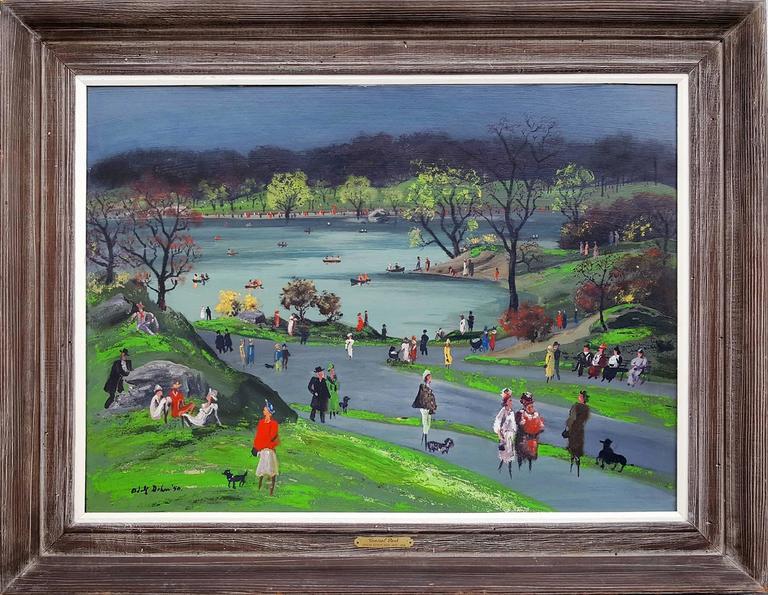 Central Park - Painting by Adolf Arthur Dehn