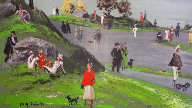 Central Park - American Impressionist Painting by Adolf Arthur Dehn