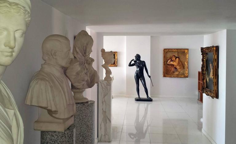 Art Deco Diana - Sculpture by Hans Harry Liebmann
