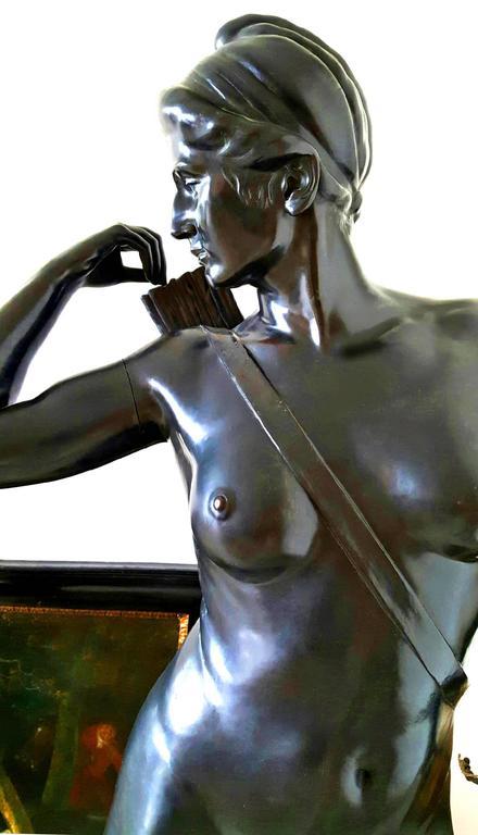 Art Deco Diana - Beige Figurative Sculpture by Hans Harry Liebmann