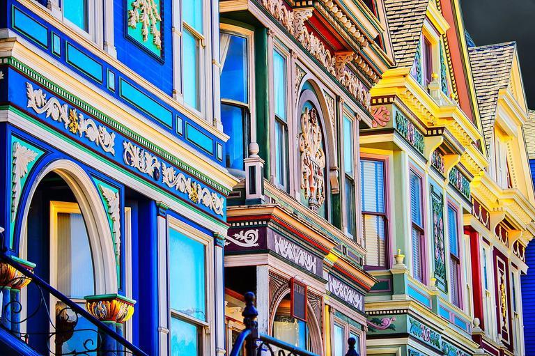 Mitchell Funk Color Photograph - San Francisco Victorians
