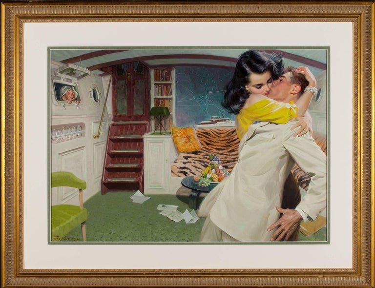 Below Deck - Painting by Tom Lovell