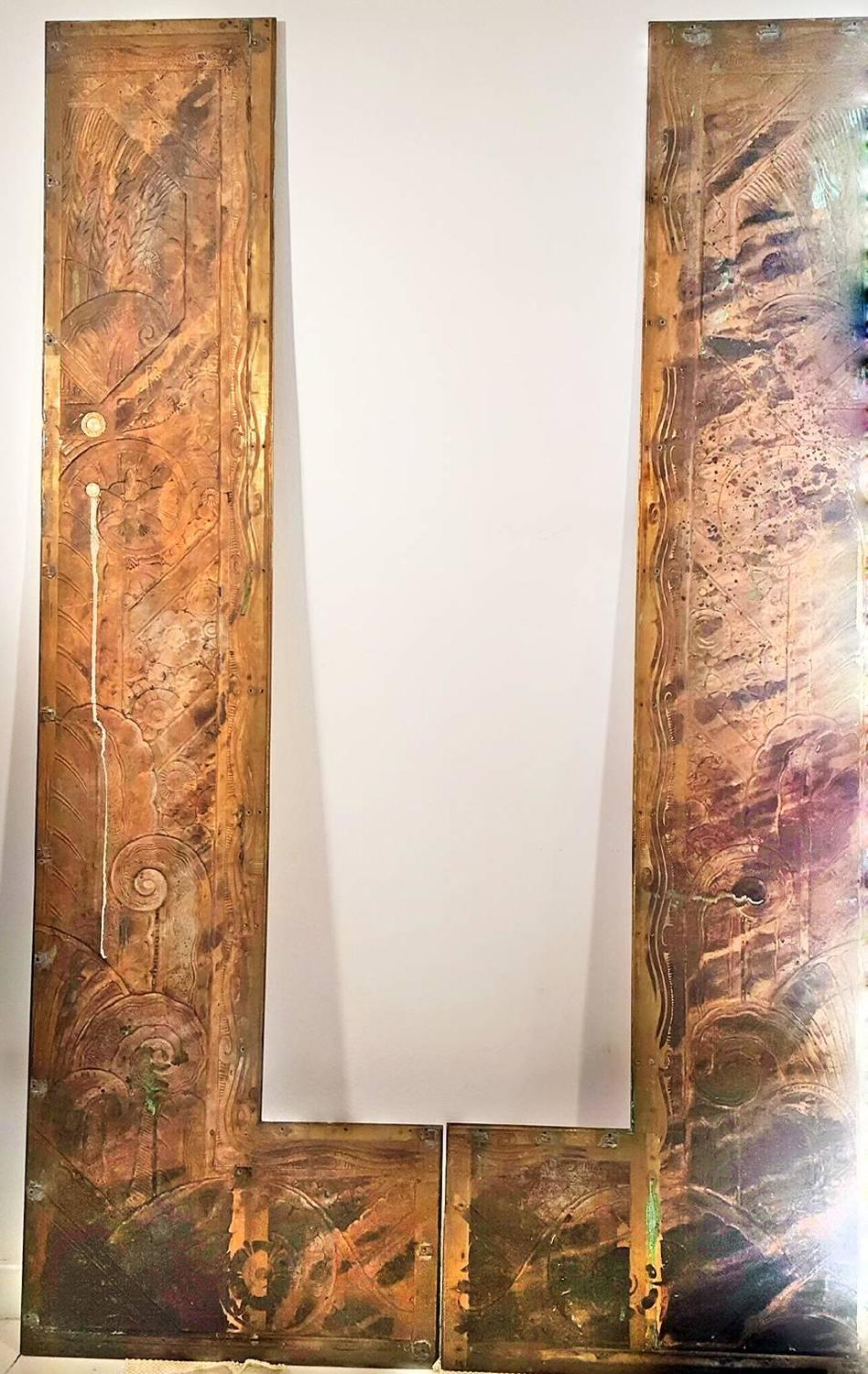 Unknown Art Deco Panels Six Feet Tall For Sale At 1stdibs