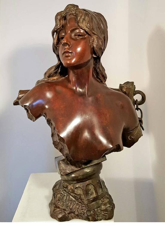 Capture - Art Nouveau Sculpture by Emmanuel Villanis