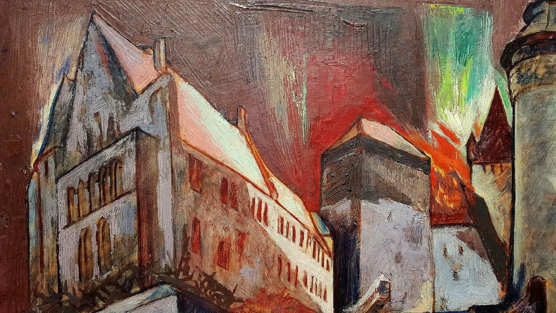 Stefan Hirsch stefan hirsch the burning castle for sale at 1stdibs