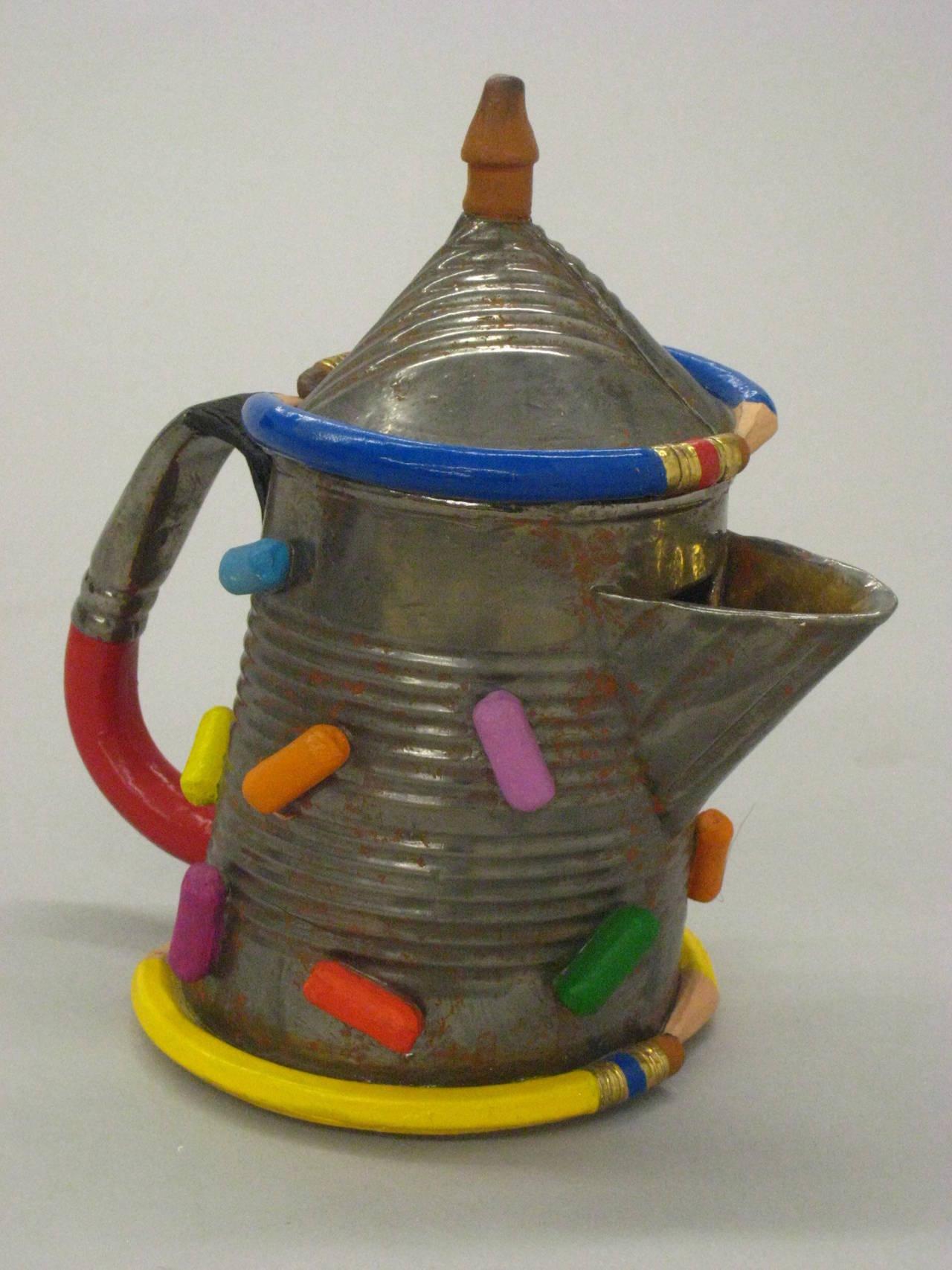 David Furman Tin Can Teapot For Sale At 1stdibs
