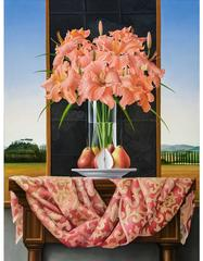 Still Life with Daylilies and Pears
