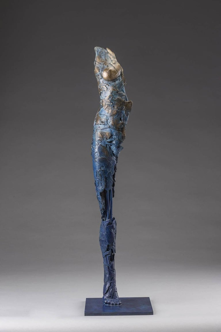 Blake Ward Figurative Sculpture - Ushabti Tefnet (Lunar Goddess of Water)
