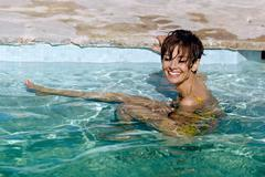 Audrey Swimming