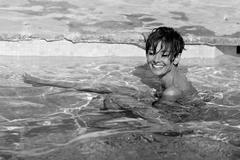 Audrey Swimming (Black & White)