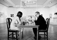 Marcel Duchamp Playing Chess with Eve Babitz, 1963