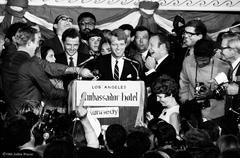 Robert F. Kennedy, Ambassador Hotel, 1968 - silver gelatin print