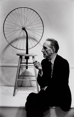 Marcel Duchamp with his Bicycle Wheel, 1963