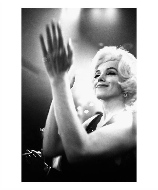 Julian Wasser Black and White Photograph - Marilyn Monroe at the Golden Globes in the Beverly Hilton Hotel, 1962