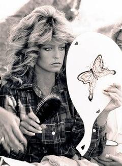 Farrah Fawcett with Butterfly Mirror, 1976