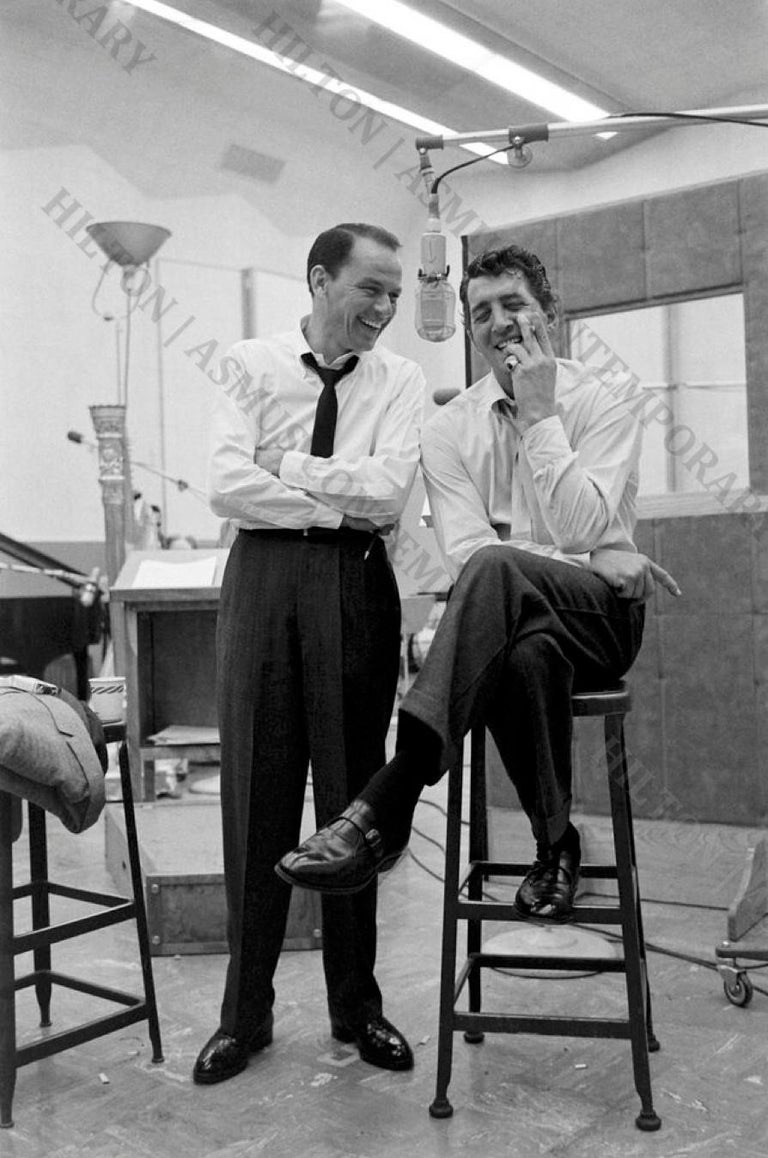 Allan Grant Black and White Photograph - Frank Sinatra and Dean Martin - Best of Friends