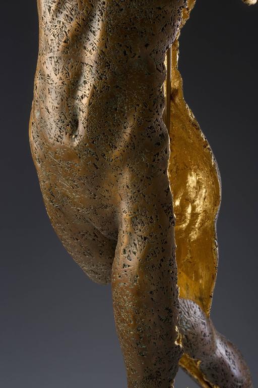 Phantom Zella (The Shadow Phantom) - Gold Nude Sculpture by Blake Ward