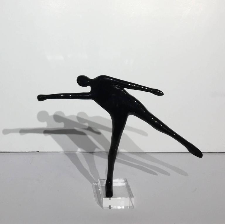 Motion - Gold Figurative Sculpture by Kostis Georgiou