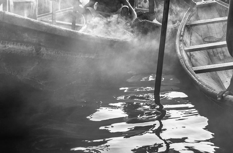 A Ship Called Dignity - Gray Black and White Photograph by David Yarrow